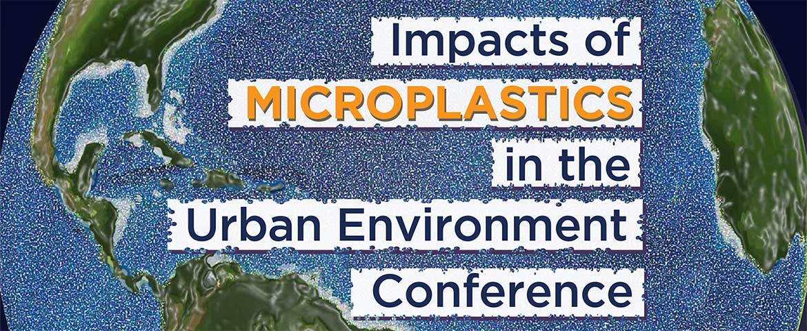 Photo: Impacts of Microplastics in the Urban Environment Conference banner.